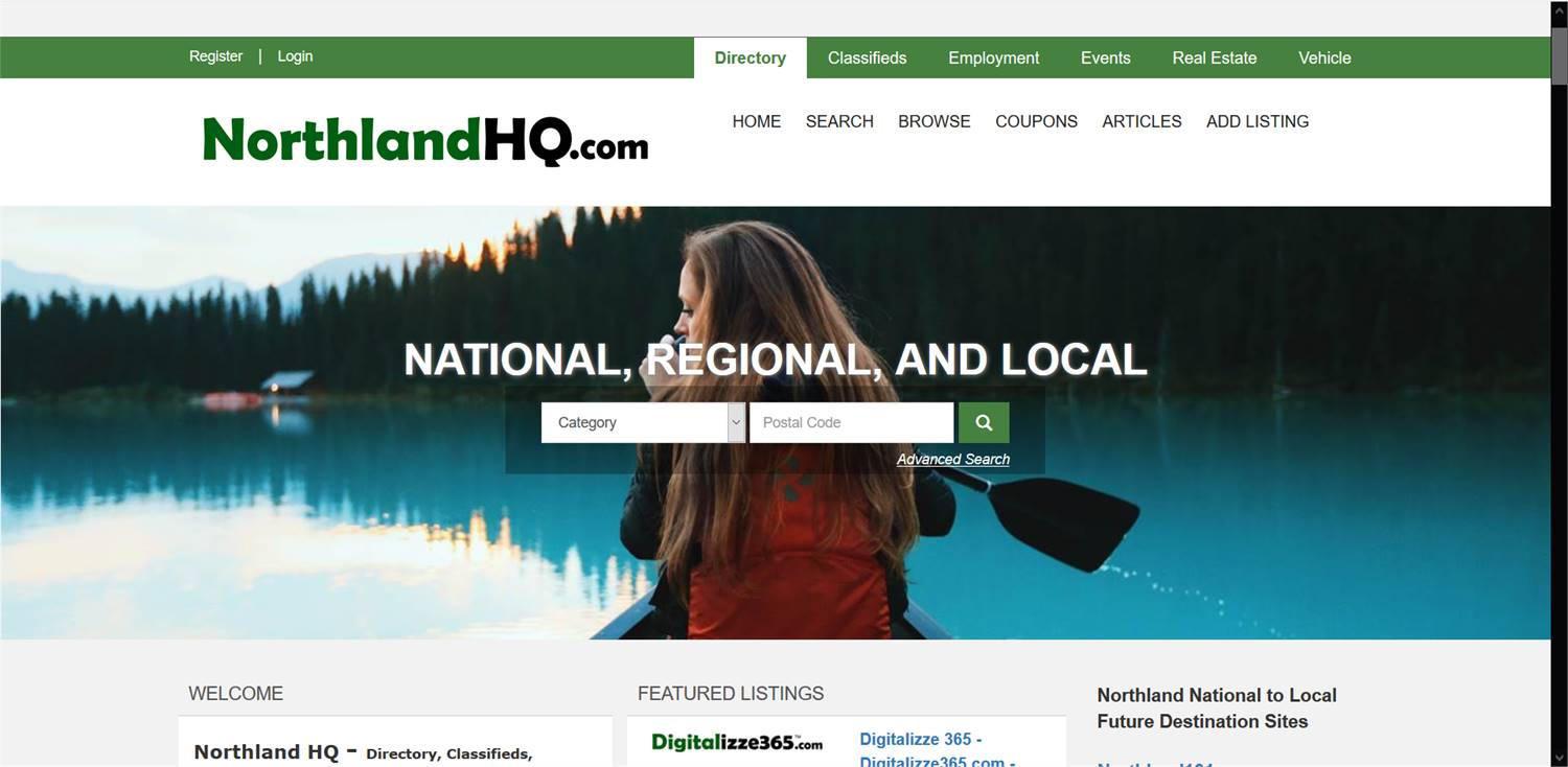 NorthlandHQ.com  - National to local Directory, Classifieds, Employment, Events