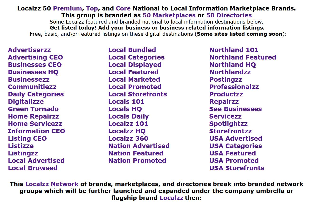 Localzz Marketplaces offers Free, Promo, and Featured Listings